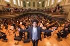 Orchestra in fine tune on memorable night